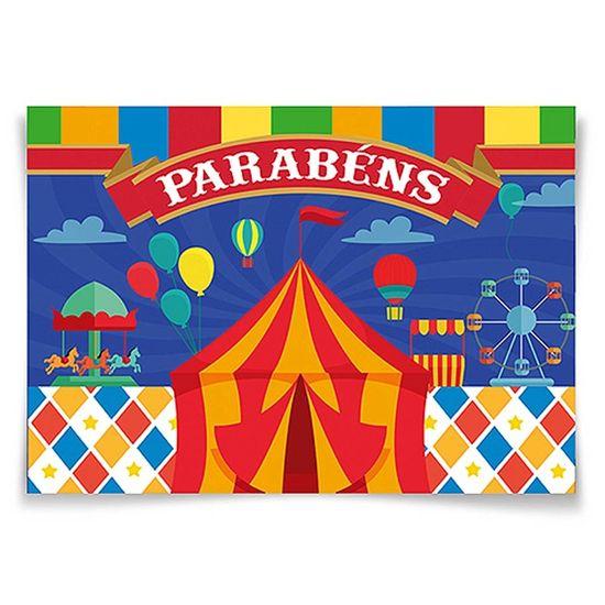 Festa Circo - Painel Horizontal Circo - 106x75cm Painel Horizontal Circo - 106x75cm
