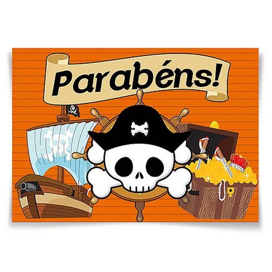 Festa Piratas - Painel Horizontal Piratas NEW - 106x75cm Painel Horizontal Piratas NEW - 106x75cm