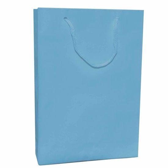 Sacola Cartonada 21.5x15cm Liso Azul Claro - 10 unidades