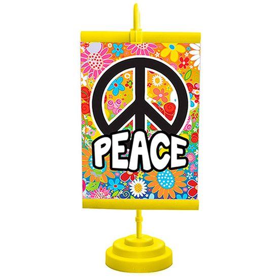 Enfeite de Mesa Banner Especial Festa Hippie