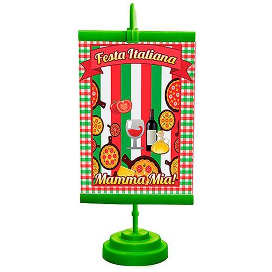 Enfeite de Mesa Banner Especial Festa Italiana