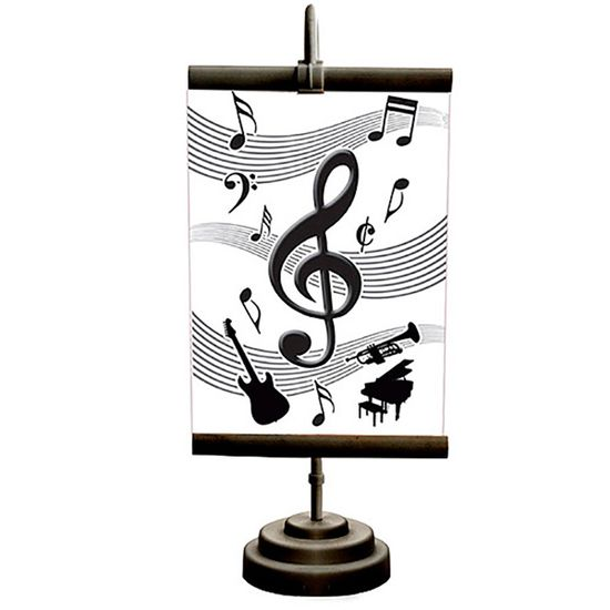 Enfeite de Mesa Banner Especial Notas Musicais