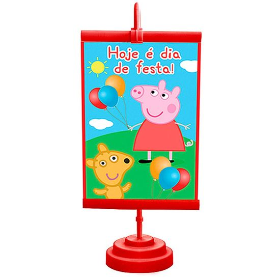 Festa Peppa Pig - Enfeite de Mesa Banner Especial Peppa Pig Enfeite de Mesa Banner Especial Peppa Pig