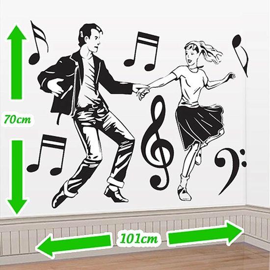 Cenário Adesivo Anos 60 - Casal Dançando