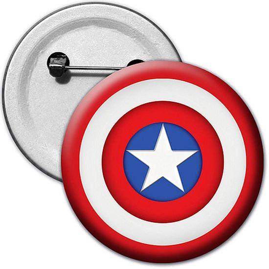 Broche Especial Capitão América - Para Lembrancinha