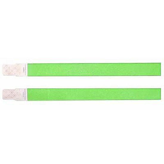 Pulseira de Identificação em Fibra de Papel Verde - 100 unidades