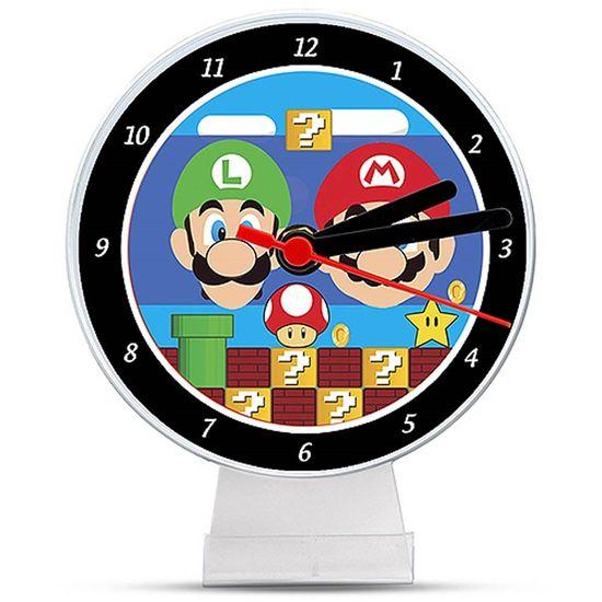 Festa Super Mario Bros - Lembrancinha/ Enfeite de Mesa Relógio Super Mario Bros Lembrancinha/ Enfeite de Mesa Relógio Super Mario Bros