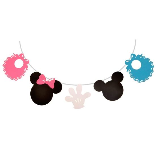 Festa Disney Baby - Bandeirola Artesanal Cartonada Baby Disney - 2.8 Metros FL - Bandeirola Artesanal Cartonada Baby Disney - 2.8 Metros