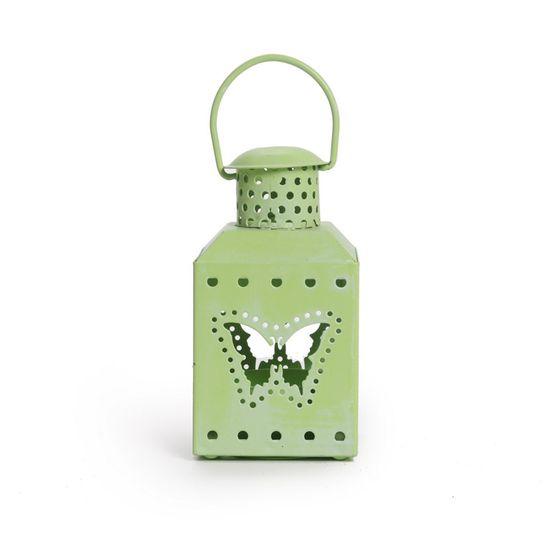 Cromus - Porta Velas em Metal Portavela Lamarelop Borboleta Verde - 1 Pacote com 6 Unidades