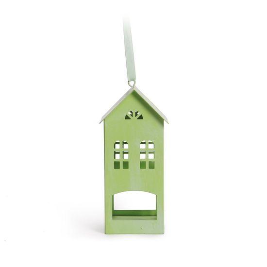 Cromus - Casa Verde Claro ( Porta Velas em Metal ) - 4 Unidades