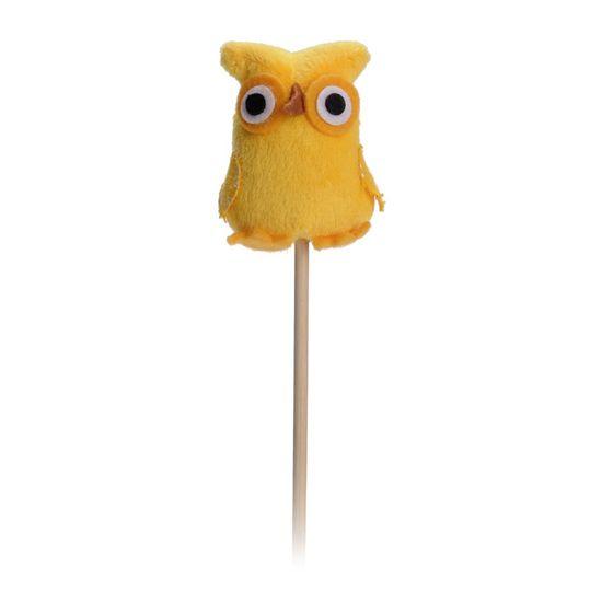 Cromus - Coruja Amarelo ( Picks Pelúcia ) - 5 Unidades