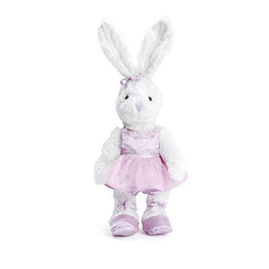 Cromus - Coelha Bailarina Branco Lilás ( Baba de Moça ) - 2 Unidades
