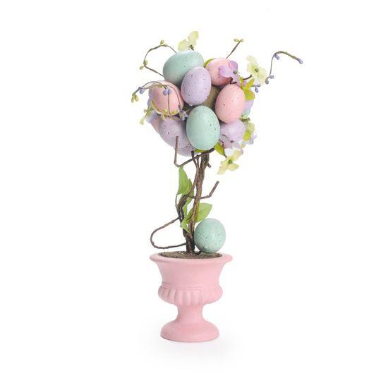 Cromus - Fondant Topiaria Ovos Azul Lílas e Rosa - 1 Pacote com 2 Unidades