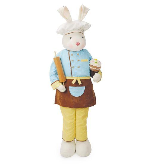 Cromus - Chocolaterie Coelho em Pé Cupcake Marrom e Azul e Amarelo - 1 Unidade