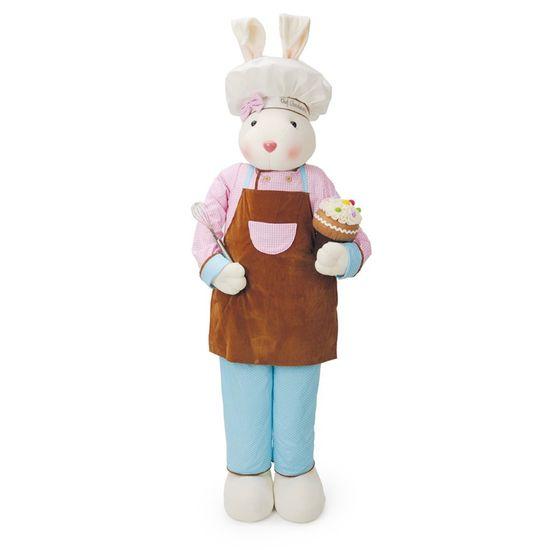 Cromus - Coelha em Pé Cupcake Múltiplo 77cm ( Chocolaterie ) - 1 Unidade