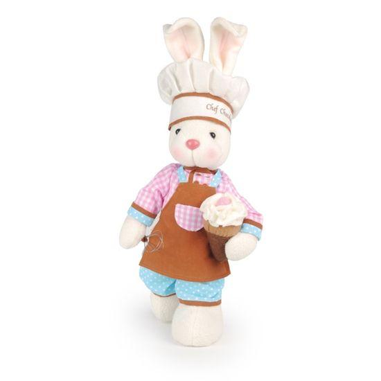 Cromus - Chocolaterie Coelha Pé Levantado Marrom e Rosa e Azul - 1 Pacote com 2 Unidade
