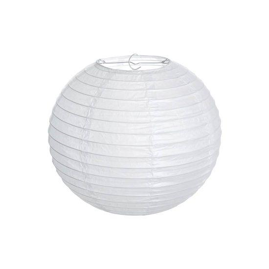 Lanterna Redonda sem Luz Branco 20 cm - 1 Unidade