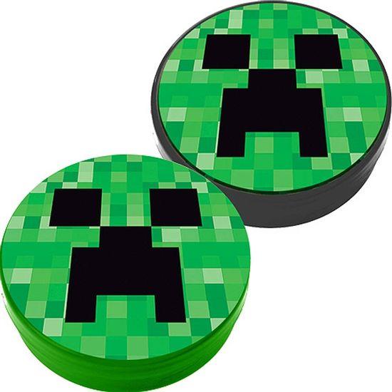 Latinha Plástica 5x1 Lembrancinha Minecraft CREEPER