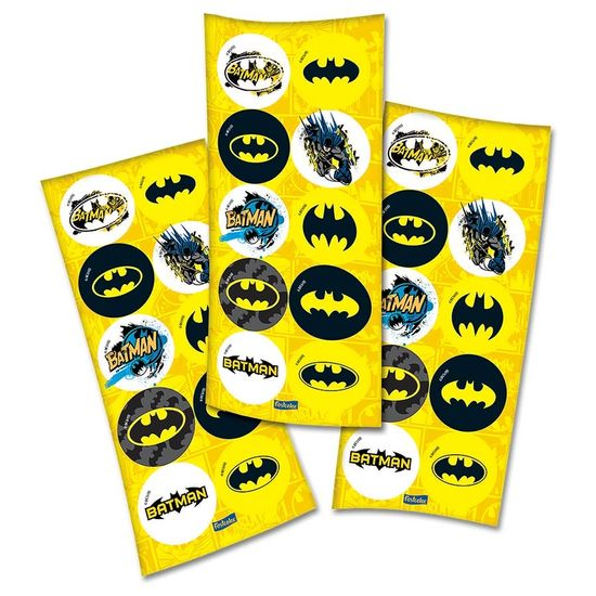 Adesivo Redondo Batman Geek - 03 cartelas