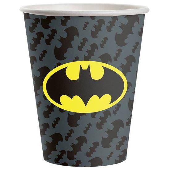 Copo de Papel 300ml Batman Geek - 08 Un