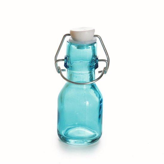 Garrafinha de Vidro Azul - Pacote com 6 Unidades