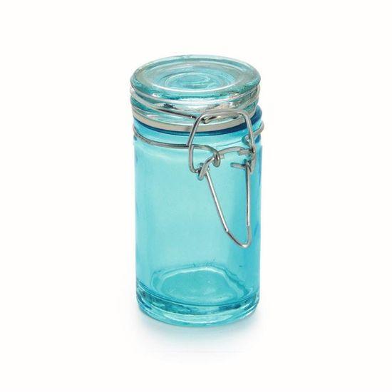 Potinho Hermético Azul Médio 4,5x8,5 Peças - 6 Unidades