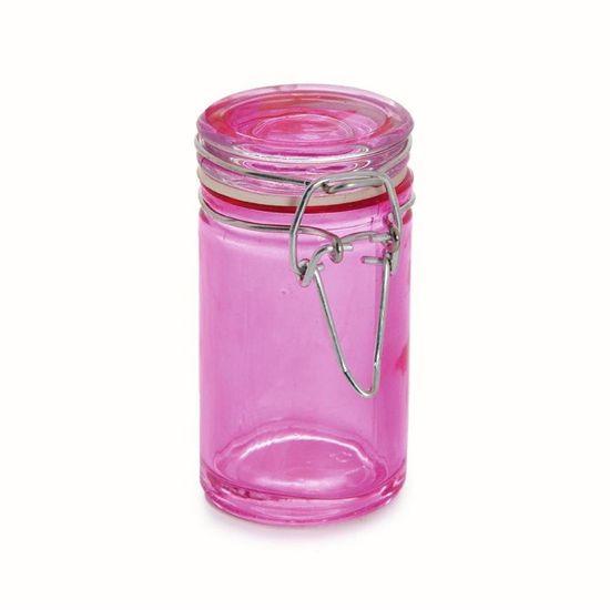 Potinho Hermético Rosa Médio 4,5x8,5 Peças - 6 Unidades