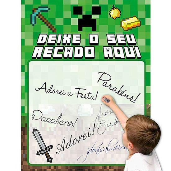 Mural de Recados Especial Minecraft CREEPER