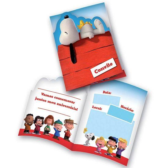 Convite de Aniversário Snoopy e Charlie Brown 08 Un