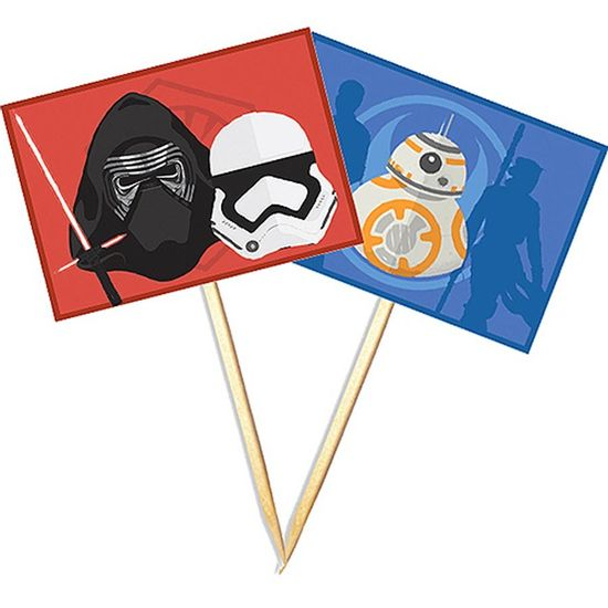 Festa Star Wars - Lolipop para Cupcake Especial Star Wars Episódio VII - 10 unidades Lolipop para Cupcake Especial Star Wars Episódio VII - 10 unidades