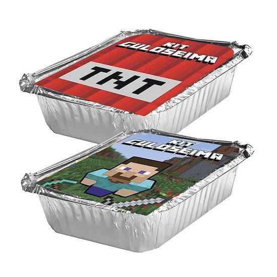 Adesivo para Marmita Pequena 220ml Minecraft STEVE e TNT - 05 Un