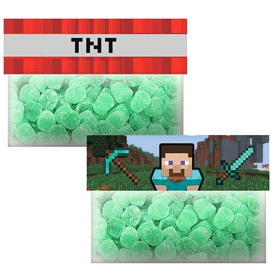 Solapa Especial para Doces Minecraft STEVE e TNT - 08 Un