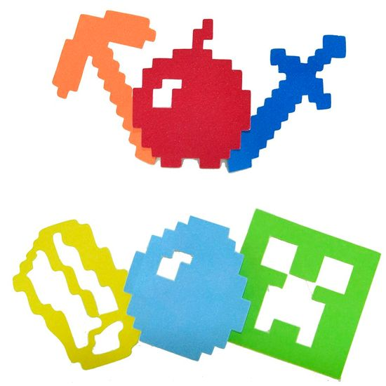 Aplique Artesanal Minecraft M - 10 Unidades