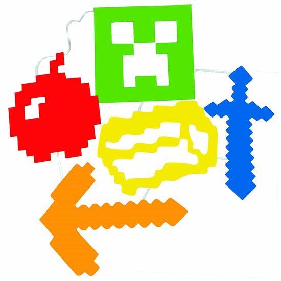 Bandeirola Artesanal Cartonada Minecraft - 2.8 Metros