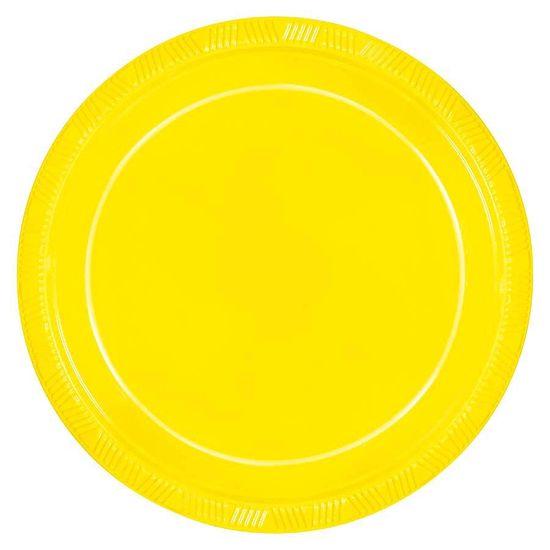 Prato Color 23cm Amarelo Neon - 10 Un