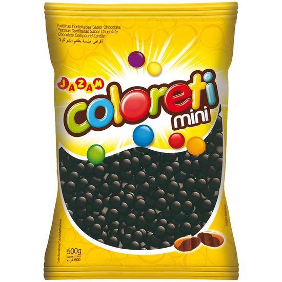 Pacote Mini Confete Coloreti Chocolate PRETO - 300g