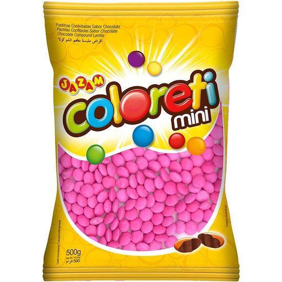 Pacote Mini Confete Coloreti Chocolate ROSA - 300g