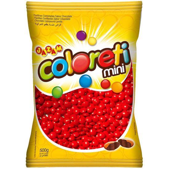 Pacote Mini Confete Coloreti Chocolate VERMELHO - 300g