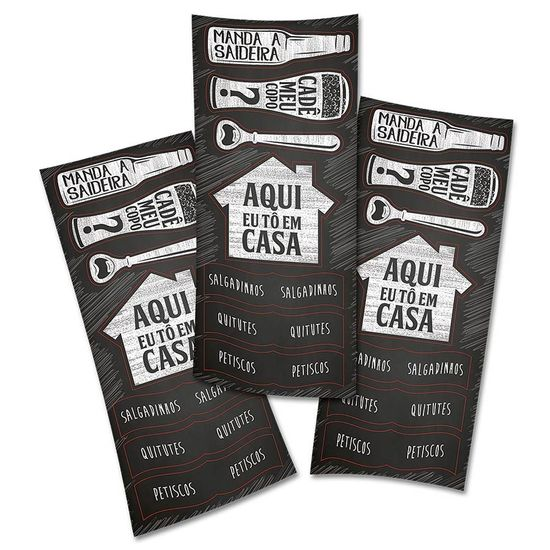 Adesivo Sortido Boteco Festcolor - 04 cartelas