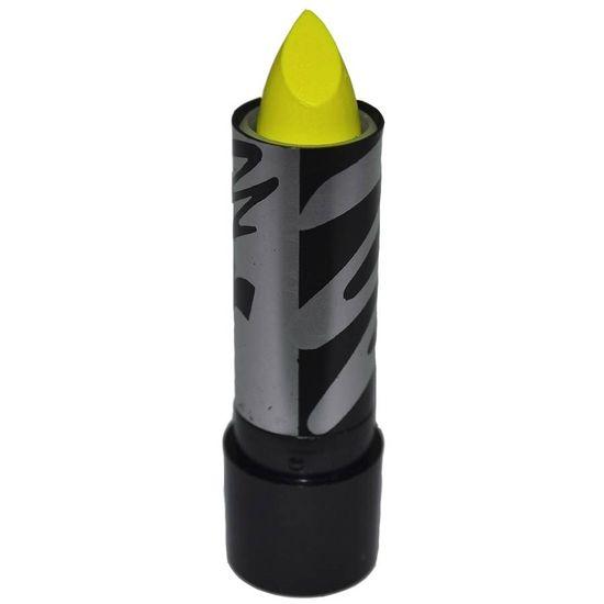 Batom Neon Color Make Brilha na Luz Negra - Amarelo