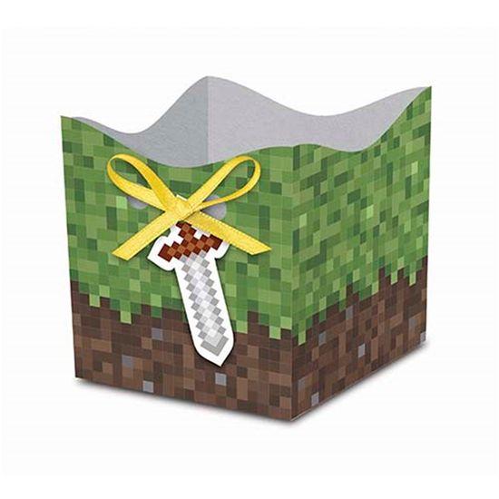 Festa Minecraft - Cachepô Pequeno Game - 08 unidades Cachepô Pequeno Game - 08 unidades