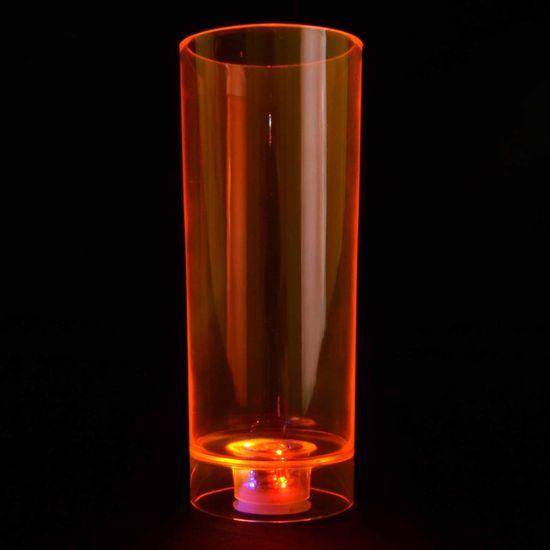 Copo Acrílico com Pisca Long Drink 350ml - Laranja