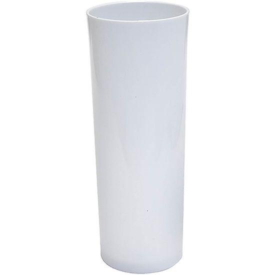 Copo Acrílico Long Drink Color 300ml - Branco Sólido
