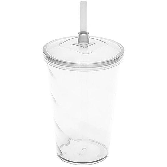 Copo Milk Shake em Acrílico 700ml - Cristal