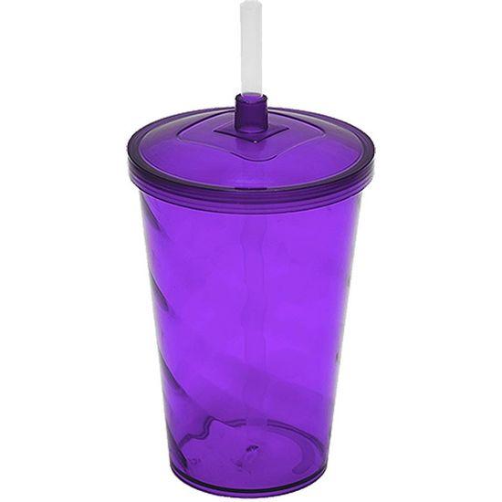 Copo Milk Shake em Acrílico 700ml - Roxo