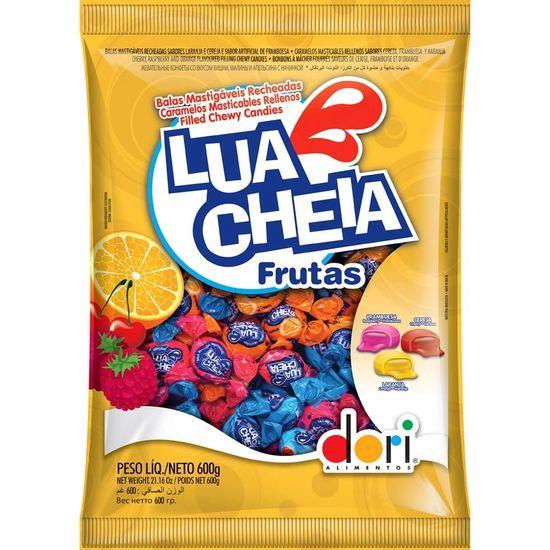 Pacote Bala Mastigável Lua Cheia Sabor Frutas - 600g
