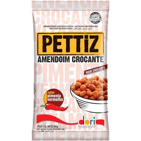 Pacote Amendoim Crocante Pimenta Vermelha Pettiz - 500g