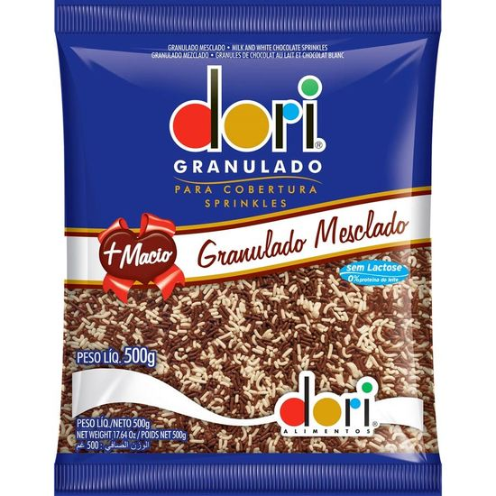 Pacote Chocolate Granulado Mesclado Dori - 500g