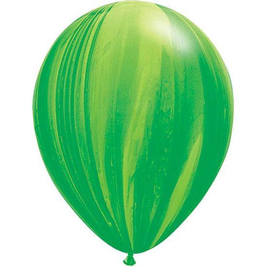 Balão Super Agate 28cm Rainbow Green - 05 unidades