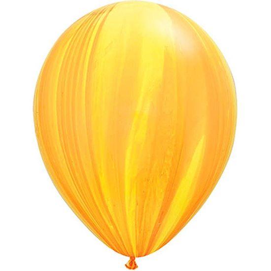 Balão Super Agate 28cm Rainbow Orange - 05 unidades